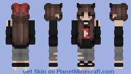 ♡ YouTube Demon Girl Minecraft Skin