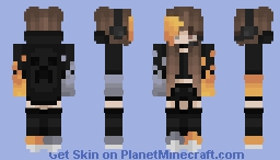 ♡ Water and Fire Gamer Girl Minecraft Skin