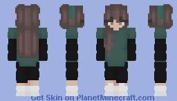teal Minecraft Skin
