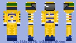 Ayrton Senna - Lotus (Camel) Minecraft Skin