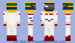 Ayrton Senna - Toleman Minecraft Skin