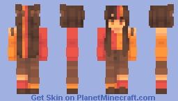 dark red Minecraft Skin