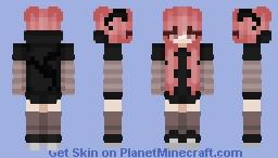 ♡ Dark Demon Girl Minecraft Skin