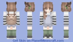♡ Cute Deer Girl Minecraft Skin