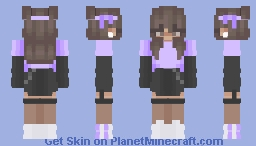 On a walk - Purple Minecraft Skin