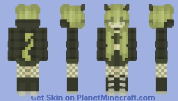♡ Green Toxic Girl Minecraft Skin