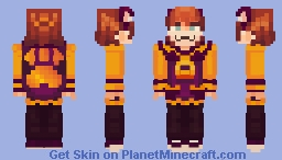 A Hat in Time - Hat Kid! (Nyakuza Metro outfit) [Maskless version on the description] Minecraft Skin