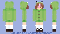 Frog! (But I changed it a bit) Minecraft Skin