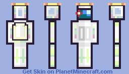 white impostor v4 Minecraft Skin