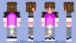 Tried to look like Anime (Auspop Outfit) Minecraft Skin