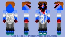 Blue Blob Murderer.... Minecraft Skin