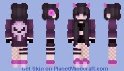 ♡ Purple Demonic Girl Minecraft Skin