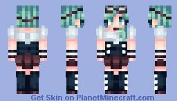 Alyssa -oc themed secret santa gift for wildcard_gamer Minecraft Skin
