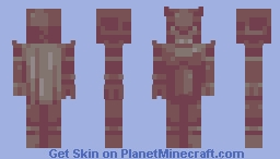 there was once a warrior who was so cool he got a statue Minecraft Skin