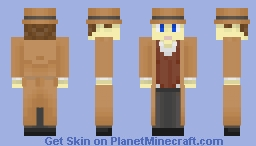 Real Life Version of Me (And Yes, I Do Wear Trenchcoats and Suit Vests -- It's My Style) Minecraft Skin