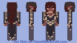 Ravn D'reth | Depth of the Nether | 𝕏𝕁 Minecraft Skin