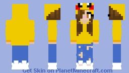 Pika Girl Minecraft Skin
