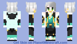 "Ainchase Ishamel - Elsword - ""The conductor of emotions, growing in tandem those he travels with"" - Bluhen Minecraft Skin"
