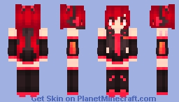 | Red Miku | ~* Marma *~ Minecraft Skin