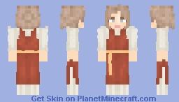 Red Nordic Minecraft Skin