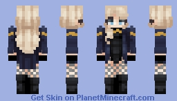 Black Canary Minecraft Skin