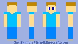 My first skin on PMC (Simple Steve) Minecraft Skin