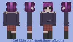 Hey There Purple Hair    FP    Minecraft Skin