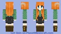 Dragon Girl Minecraft Skin