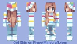 - ☄️🌕🌸 - Color in tripes - 🌸🌕☄️ - Minecraft Skin