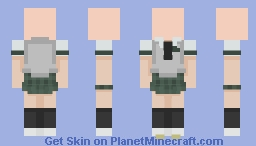 ~- Sutoka High School FEMALE 11th Grade Uniform Template -~ Minecraft Skin