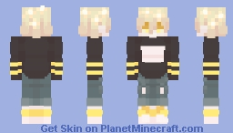 blonde babie boi Minecraft Skin
