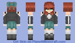 Cute Girl with a Skirt Minecraft Skin
