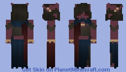 [Commission] Tiefling Minecraft Skin