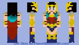 Wonder Woman - Death Metal Minecraft Skin