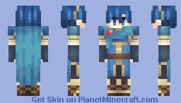 Prince Marth - Fire Emblem: New Mystery of the Emblem (FE11 alt) - Happy 30th anniversary! Minecraft Skin