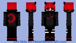 vampire red Minecraft Skin