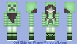 Pastel Creeper Sweater Girl Minecraft Skin