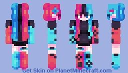 Flip The Switch - Female Version - (Gaming Series) Minecraft Skin