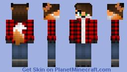Plaid fox girl Edit Minecraft Skin