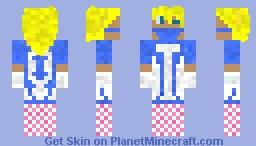 Blond Crossdressing Guy Minecraft Skin