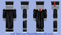 Free Graduation Cap + Gown Base with 5 Colors - Download in Description Minecraft Skin
