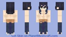 Inosuke Hashibira (no mask) Minecraft Skin