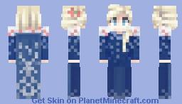 Frozen Olaf Adventure; Elsa Prologue Dress Minecraft Skin