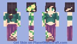 {Elf} Forest Maiden 〈𝓟𝖎𝖈𝓴𝖑𝖊𝕮𝖆𝖙〉 Minecraft Skin