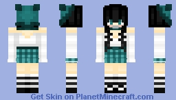 Rio with Plaid Skirt and Ear Hat Minecraft Skin
