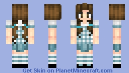 Dorothy Gale (No ruby slippers) -updated- Minecraft Skin