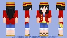Luffy Girl Minecraft Skin