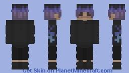 blue fire boy Minecraft Skin