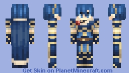 Marth, Hero-King - Fire Emblem: New Mystery of the Emblem Minecraft Skin