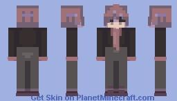 purple and black Minecraft Skin